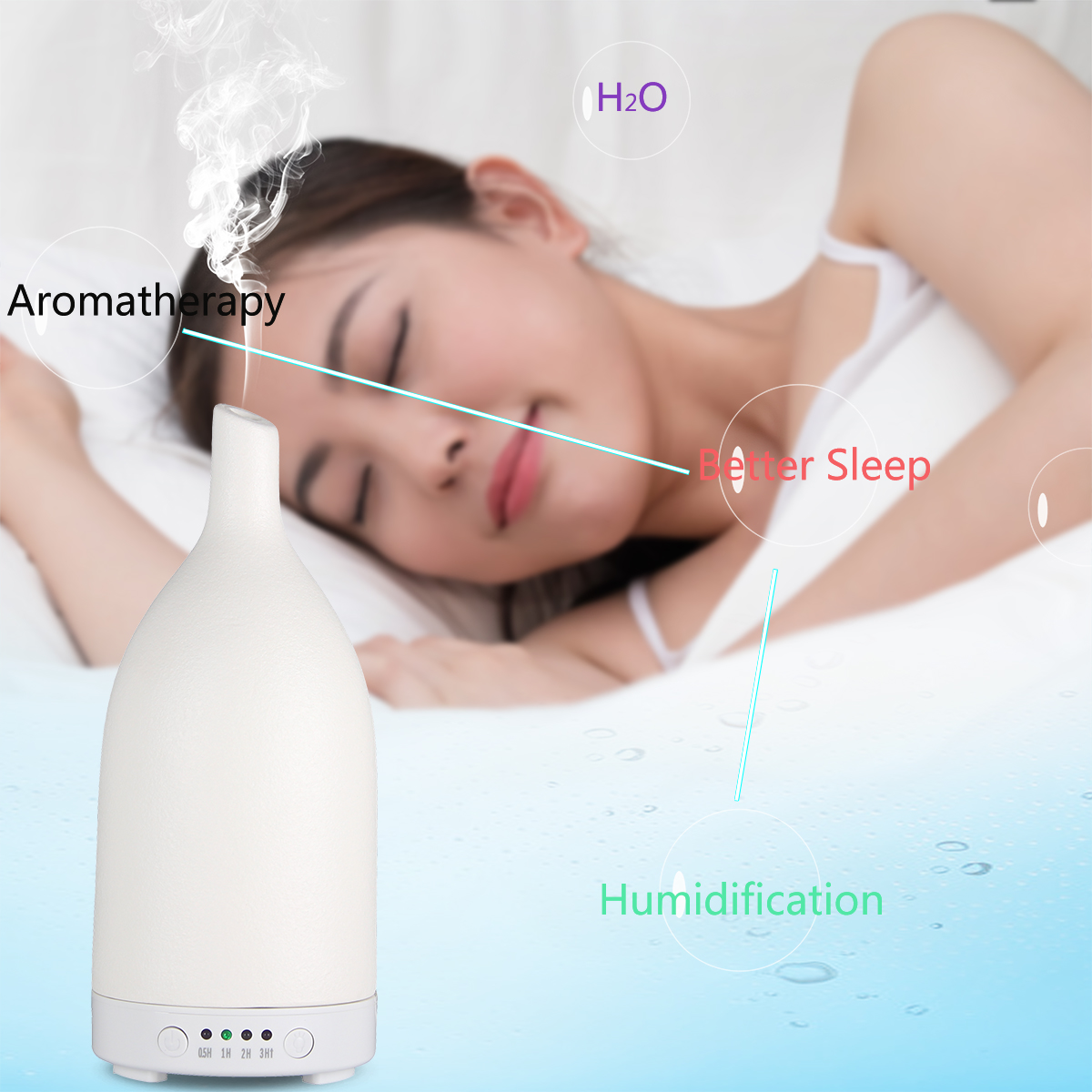 White Cemic Aroma Diffusers